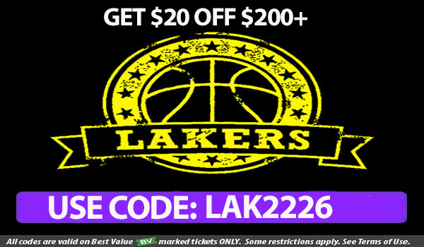 Top 5 Lakers game in February discount code