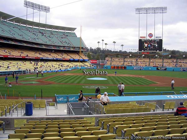 Section 14 seat view dodger stadium
