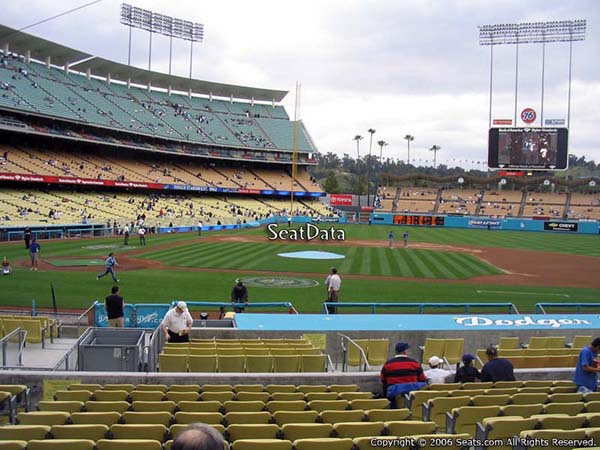visiting team fans dodger stadium section 16 seat view