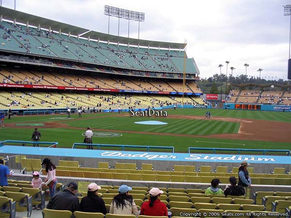visiting team fans dodger stadium section 20 seat view