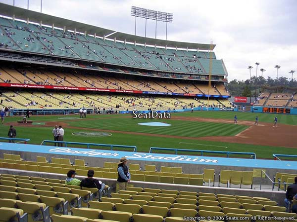 Section 22 seat view dodger stadium visiting team fans
