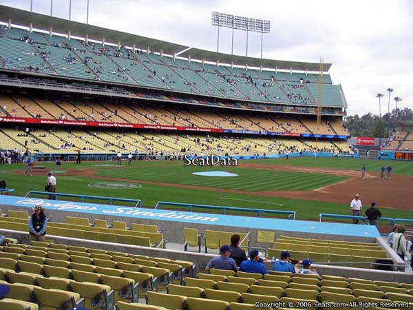 Section 24 seat view dodger stadium visiting team fans