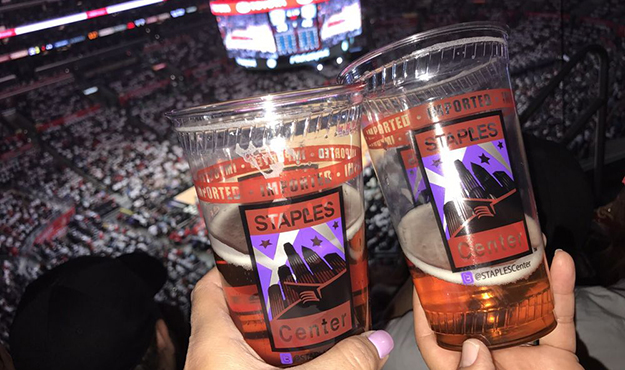 How much is a beer at Staples Center
