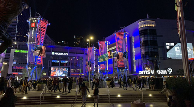 LA Live Accross from the Staples Center